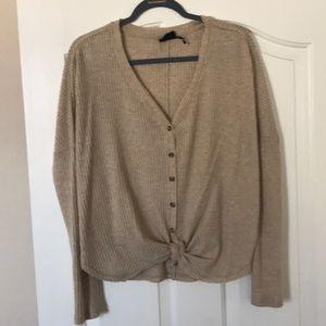 UO slouchy plush sweater